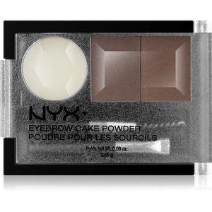 NYX Professional Makeup Eyebrow Cake Powder Szemöldökformázó készlet árnyalat 02 Dark Brown/Brown 2.65 g kép