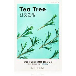 Missha Airy Fit Tea Tree arcmaszk tisztító és frissítő hatással az érzékeny arcbőrre 19 g kép