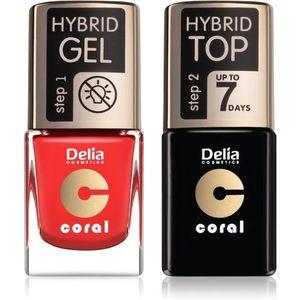 Delia Cosmetics Coral Nail Enamel Hybrid Gel kozmetika szett körmökre hölgyeknek odstín 11 kép