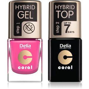 Delia Cosmetics Coral Nail Enamel Hybrid Gel kozmetika szett (körmökre) kép