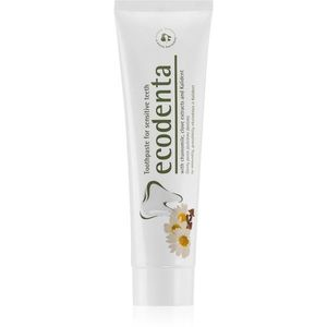 Ecodenta Green Sensitivity Relief fogkrém érzékeny fogakra fluoriddal íz Chamomile/Clove 100 ml kép