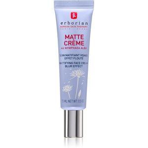 Erborian Matte Crème bőrélénkítő mattító krém egységesíti a bőrszín tónusait 15 ml kép