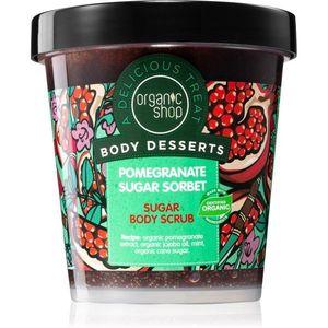 Organic Shop Body Desserts Pomegranate frissítő cukor bőrradír testre 450 ml kép