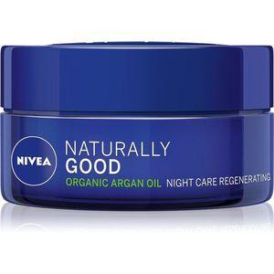 Nivea Naturally Good regeneráló éjszakai krém Argán olajjal 50 ml kép