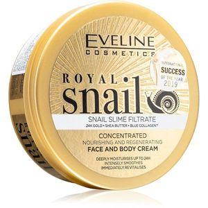 Eveline Cosmetics Royal Snail intenzíven tápláló krém arcra és testre 200 ml kép