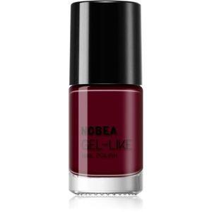 NOBEA Day-to-Day körömlakk géles hatással árnyalat Dark Cherry #N09 6 ml kép