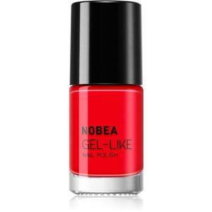 NOBEA Day-to-Day körömlakk géles hatással árnyalat Ladybug Red #N08 6 ml kép