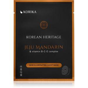 KORIKA Korean Heritage fehérítő gézmaszk Jeju mandarin & vitaminc B-C-E complex sheet mask kép