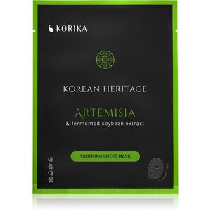 KORIKA Korean Heritage nyugtató hatású gézmaszk Artemisia & fermented soybean extract sheet mask kép
