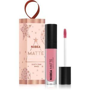 NOBEA Festive mattító folyékony rúzs árnyalat Dusty Pink 7 ml kép