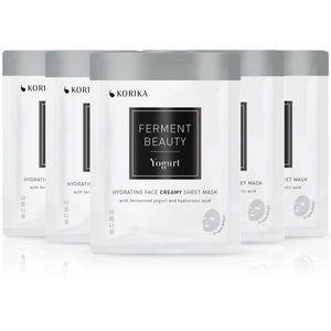 KORIKA FermentBeauty Yogurt and Hyaluronic Acid arcmaszk szett kedvezményes áron kép