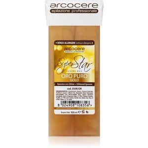 Arcocere Professional Wax Oro Puro Gold gyanta szőrtelenítéshez csillámporral utántöltő 100 ml kép