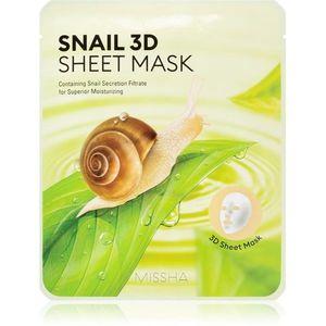 Missha Snail arcmaszk tisztító és frissítő hatással csigakivonattal 23 g kép