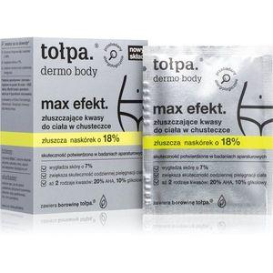 Tołpa Dermo Body Max Efekt tisztító törlőkendő peeling hatással 8 db kép