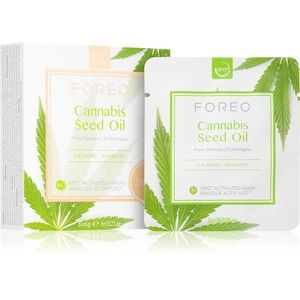 FOREO UFO™ Cannabis Seed Oil nyugtató maszk kender olajjal 6 x 6 g kép