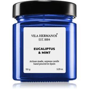 Vila Hermanos Apothecary Cobalt Blue Eucalyptus & Mint illatos gyertya 150 g kép