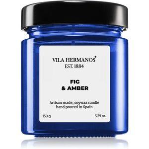 Vila Hermanos Apothecary Cobalt Blue Fig & Amber illatos gyertya 150 g kép