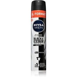 Nivea Men Black & White Invisible Original izzadásgátló spray uraknak 200 ml kép