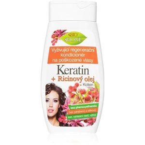 Bione Cosmetics Keratin + Ricinový olej regeneráló kondicionáló a gyenge és sérült hajra 260 ml kép