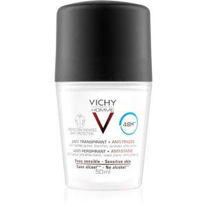 Vichy Homme Deodorant dezodor roll-on a fehér és sárga foltok ellen 48h 50 ml kép