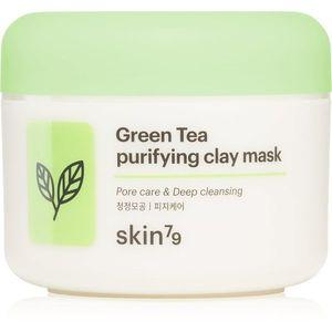 Skin79 Green Tea mélytisztító habzó maszk bőrradirral agyaggal 100 ml kép