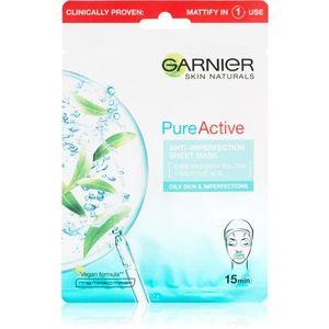 Garnier Skin Naturals Pure Active szövet arcmaszk tisztító hatással 28 g kép