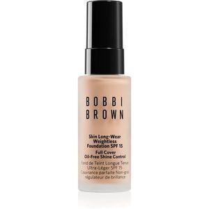 Bobbi Brown Mini Skin Long-Wear Weightless Foundation hosszan tartó make-up SPF 15 árnyalat Warm Porcelain 13 ml kép