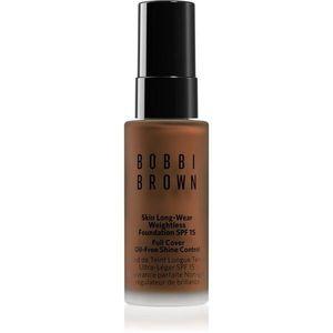 Bobbi Brown Mini Skin Long-Wear Weightless Foundation hosszan tartó make-up SPF 15 árnyalat Almond 13 ml kép