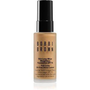 Bobbi Brown Mini Skin Long-Wear Weightless Foundation hosszan tartó make-up SPF 15 árnyalat Honey 13 ml kép