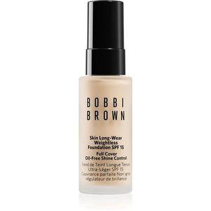 Bobbi Brown Mini Skin Long-Wear Weightless Foundation hosszan tartó make-up SPF 15 árnyalat Porcelain 13 ml kép