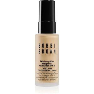 Bobbi Brown Mini Skin Long-Wear Weightless Foundation hosszan tartó make-up SPF 15 árnyalat Warm Ivory 13 ml kép