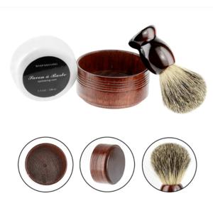 Borotválkozó szett pamaccsal, borotválkozó edénnyel és borotvaszappannal kép