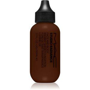 MAC Cosmetics Studio Radiance Face and Body Radiant Sheer Foundation Könnyű alapozó az arcra és a testre árnyalat C9 50 ml kép
