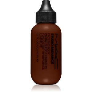 MAC Cosmetics Studio Radiance Face and Body Radiant Sheer Foundation Könnyű alapozó az arcra és a testre árnyalat N9 50 ml kép
