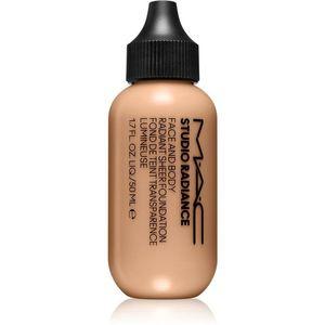 MAC Cosmetics Studio Radiance Face and Body Radiant Sheer Foundation Könnyű alapozó az arcra és a testre árnyalat N3 50 ml kép