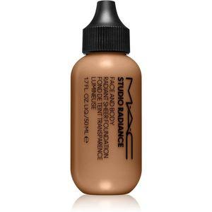 MAC Cosmetics Studio Radiance Face and Body Radiant Sheer Foundation Könnyű alapozó az arcra és a testre árnyalat N5 50 ml kép