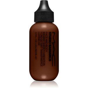 MAC Cosmetics Studio Radiance Face and Body Radiant Sheer Foundation Könnyű alapozó az arcra és a testre árnyalat W9 50 ml kép