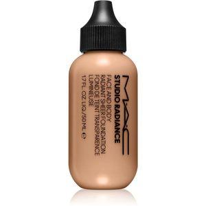 MAC Cosmetics Studio Radiance Face and Body Radiant Sheer Foundation Könnyű alapozó az arcra és a testre árnyalat N4 50 ml kép