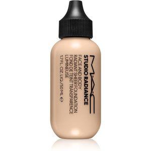 MAC Cosmetics Studio Radiance Face and Body Radiant Sheer Foundation Könnyű alapozó az arcra és a testre árnyalat W0 50 ml kép