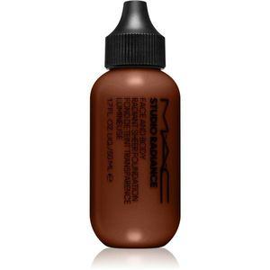 MAC Cosmetics Studio Radiance Face and Body Radiant Sheer Foundation Könnyű alapozó az arcra és a testre árnyalat W6 50 ml kép