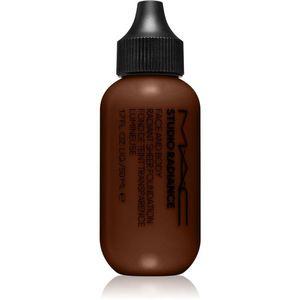 MAC Cosmetics Studio Radiance Face and Body Radiant Sheer Foundation Könnyű alapozó az arcra és a testre árnyalat N7 50 ml kép