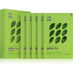 Holika Holika Pure Essence Green Tea ápoló arcmaszk az érzékeny, vörösödésre hajlamos bőrre 5x20 ml kép