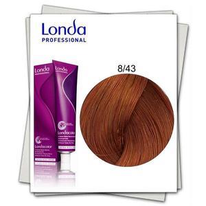 Permanens hajfesték - Londa Professional 8/43 Világos szőke réz-arany árnyalattal kép