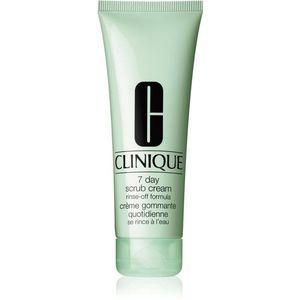 Clinique 7 Day Scrub Cream Rinse-Off Formula tisztító peeling mindennapi használatra 100 ml kép