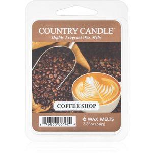 Country Candle Coffee Shop illatos viasz aromalámpába 64 g kép