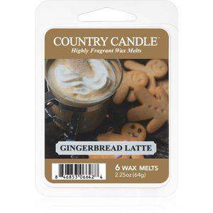 Country Candle Gingerbread Latte illatos viasz aromalámpába 64 g kép