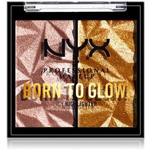 NYX Professional Makeup Born To Glow Icy Highlighter bőrvilágosító paletta árnyalat 05 - Rock Candy 5, 7 g kép