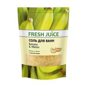 Banán és Sárgadinnye Fürdősó Fresh Juice, 500 g kép