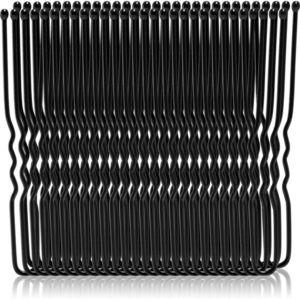 BrushArt Hair Clip hajtű nagy csomagolás Bun Black Pins 50 db kép