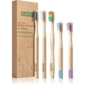 KUMPAN AS06 bambuszos fogkefe ajándékszett 5 db kép